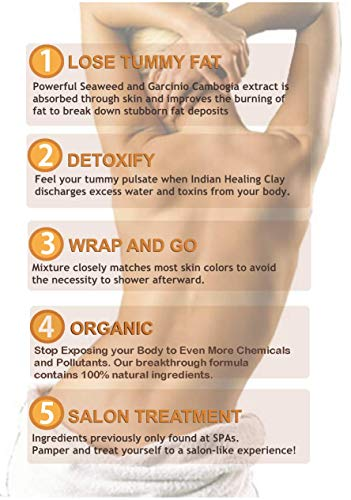 DIY Body Wrap: SPA Formula for Home Use: Seaweed, Healing Clay, Garcinia Cambogia, and Dead Sea Salt 4