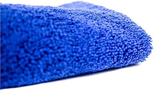 Blue Pocketed Plush Lint-Free Cloth Zwipes Auto 669 Large Premium Absorbent Microfiber Drying Towel