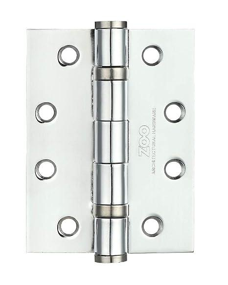 Bisagra de Acero para Puerta Zoo Hardware ZHS43 + Tornillos 102 x 76 x 3 mm, se Vende como par