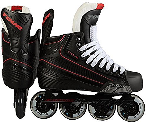 Tour Hockey Code 7 Senior Inline Hockey Skate, Black, 08 ()