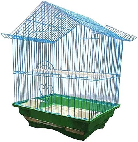 AYCPG Jaula de pájaros pájaros Vida Limpia Jaula de Aves Cultura económica Jaula de pájaros Adecuado para Loros Pequeño gorrión cría 28 cm Ocasiones;Ancho 21 cm Veces;Altura 38cm casa Mascota lucar