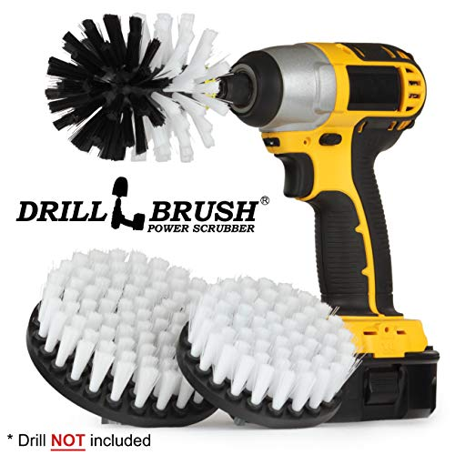 Marine – Boat Accessories – Cleaning Supplies – Drill Brush – Kayak – Boat – Jet Ski – Hull Cleaner – Spin Brush Kit for Boat Cleaning – Algae – Oily Residue and Oxidation – Fiberglass – Gel Coat