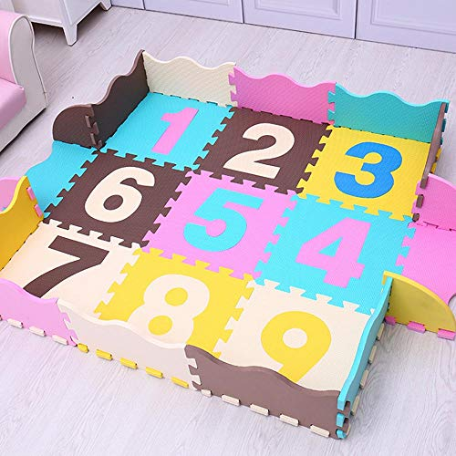 PinnacleT1 Soft Playmat Foam Interlocking Floor Tiles Play Puzzle Mat Floor Jigsaw Rug Baby Crawl Mat for Children,25 Pieces 12x12inch (Jigsaw Rug)