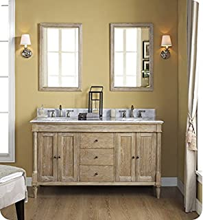 Fairmont Designs 142 V6021D Rustic Chic 60 Inch Vanity Double Bowl In  Weathered Oak