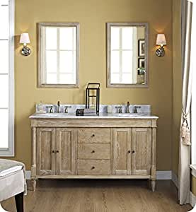 Fairmont Designs 142 V6021d Rustic Chic 60 Inch Vanity Double Bowl In Weathered Oak Bathroom