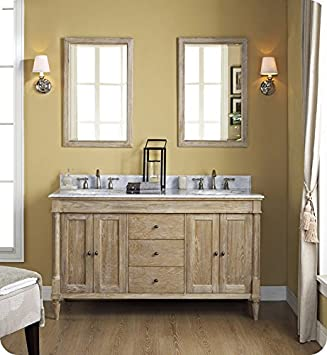 fairmont designs 142v6021d rustic chic 60 inch vanity double bowl in weathered oak - 60 Inch Vanity