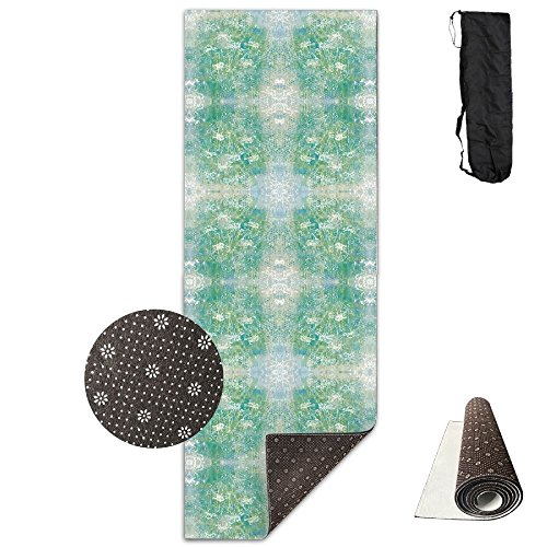 (KJDHAPI2 Daisies In The Shadow Box Wallpaper (4542) Single Side Print Yoga Mat With Carrying Strap For Fitness,Travel And Yoga Class)