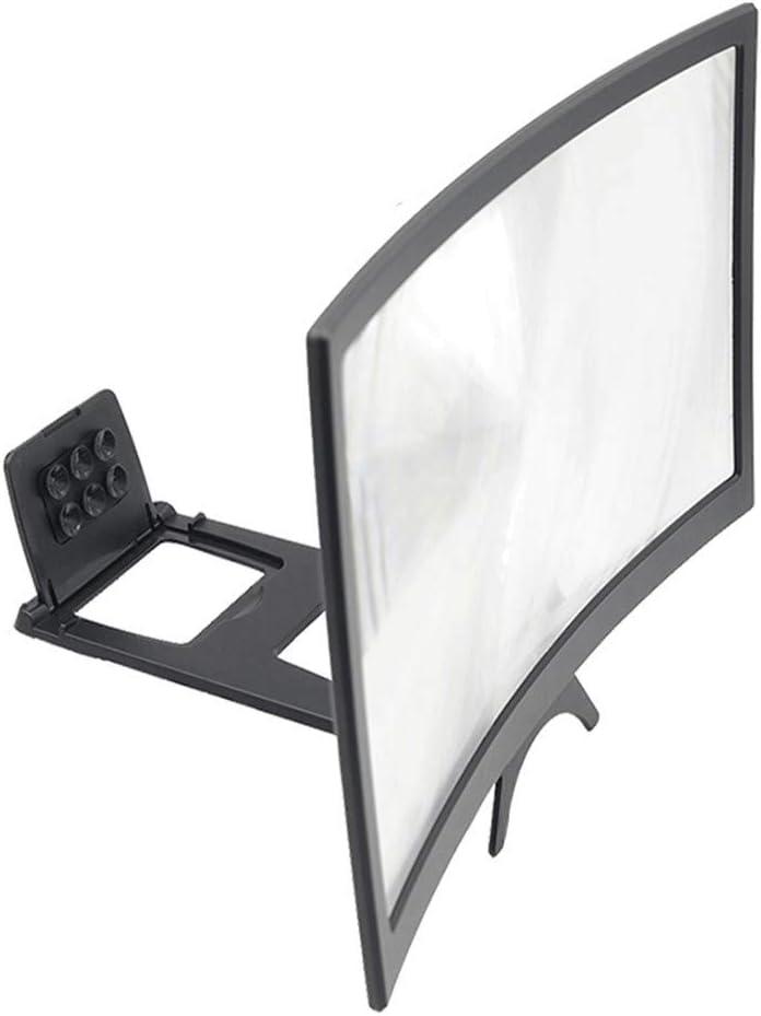 PIKAJIU Curved Screen Magnifier 12'' Lightest 3D Magnifier Projector Screen (Black)