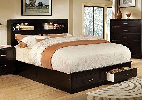 247SHOPATHOME IDF-7291EX-CK Platform-Beds, California King, Espresso (Bookcase California King)