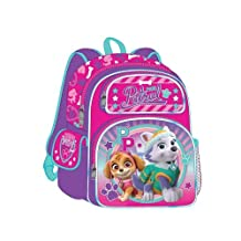 "Deluxe 3D Paw Patrol 12"" Backpack ""PAW Patrol Girls Team"" Featuring Your Favorite Girl Pup's Skye & Everest"
