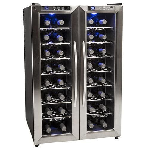 Pull Out Cooler Drawer (EdgeStar TWR325ESS 32 Bottle Dual Zone Wine Cooler with Stainless Steel Trimmed French Doors and Digital Controls)