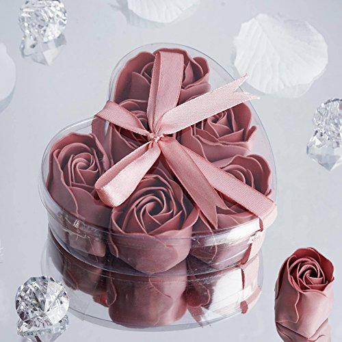 Efavormart Lot of 50 Birthday Banquet Event Wedding Decoration Party Favor Heart Rose Soap Petals| Color| Refreshing Mauve