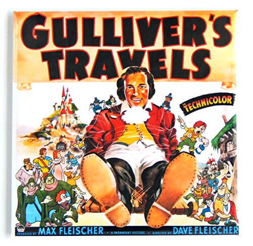 Gulliver's Travels Movie Poster Fridge Magnet (3 x 3 inches)
