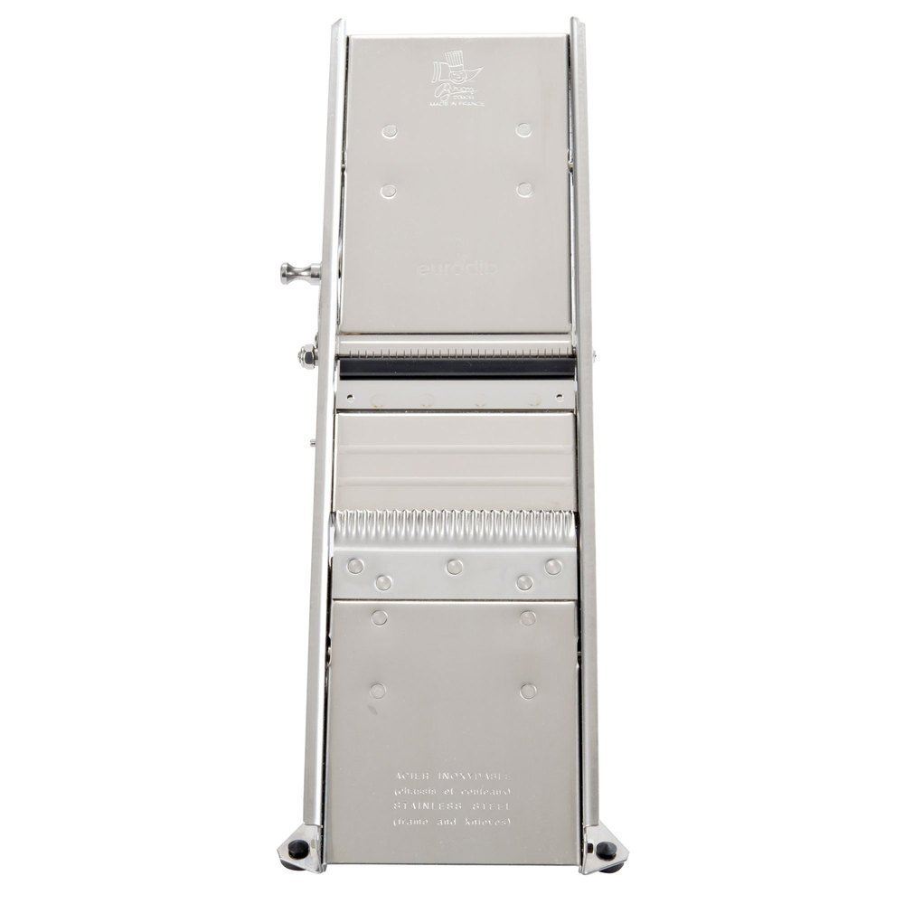 Bron Mandoline Stainless steel Safety guard supplied separately.