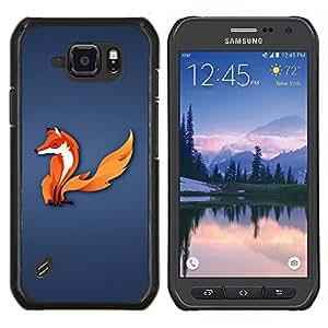 Caucho caso de Shell duro de la cubierta de accesorios de protección BY RAYDREAMMM - Samsung Galaxy S6Active Active G890A - El zorro