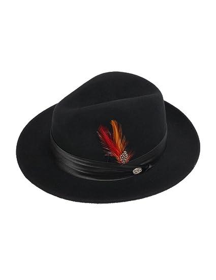 3adee9a34 New Mens 100% Wool Black Untouchable Style Fedora Homburg Hat