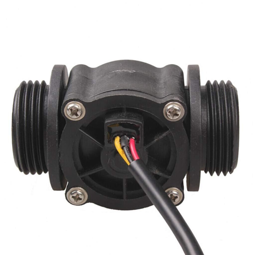 1-60L//min G1 Flujo de Agua Efecto Hall Sensor de Flujo Medidor de Flujo Sensor de Nivel L/íquido Interruptor Medidor de Flujo Contador