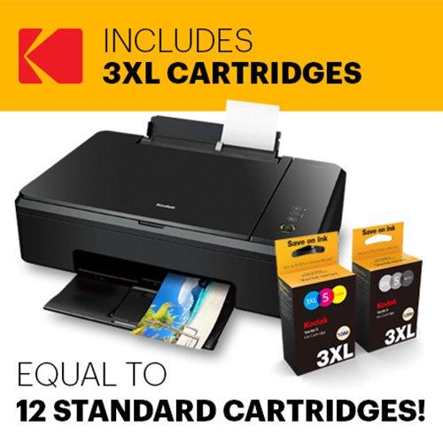 Inkjet 640 (Kodak Verite 640 Eco Mega Ink Bundle All-In-One Wireless Color Photo Inkjet Duplex Printer with Scanner & Copier and 3XL Ink Bundle (V640ECOMB/37))