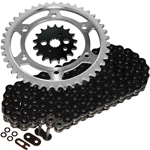 Caltric Black O-Ring Drive Chain & Sprockets Kit Fits KAWASAKI VN800A VN-800A Vulcan 800 - O-ring Drive Chain