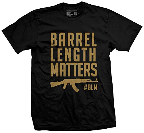Russian Roulette Clothing Barrel Length Matters Men's T-Shirt Black Medium
