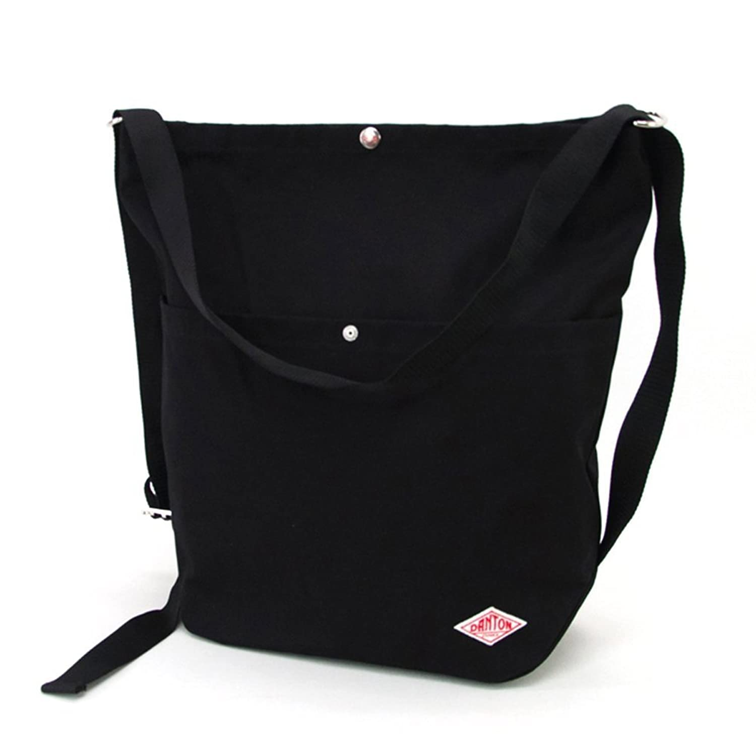 DANTON ダントン COTTON CANVAS 2WAY UTILITY BAG[JD-7092SCV] B07675W7RN  ブラック