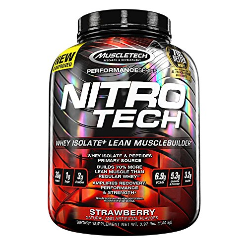 MuscleTech NitroTech Protein Powder, Whey Isolate + Lean Mus