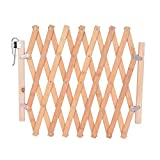 Hoomall Expanding Fence Wooden Screen Door Gates Doorways Portable Dog Pet Gate Pet Safety Patio Garden Lawn