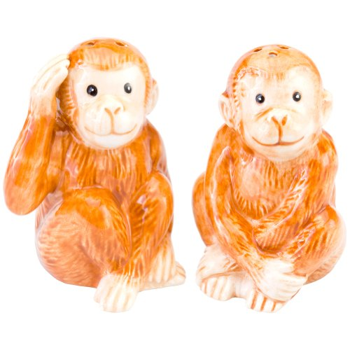Cute Baby Monkeys S/P Salt & Pepper Shakers
