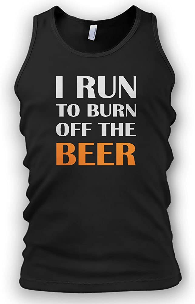 Paranoid Penguin I Run To Burn Off The Beer Mens Vest Tank ...