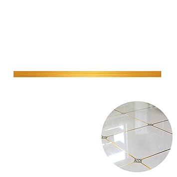 Aolvo Boden Fugen Fliesen Aufkleber Tape Strip Golden Line Bordure
