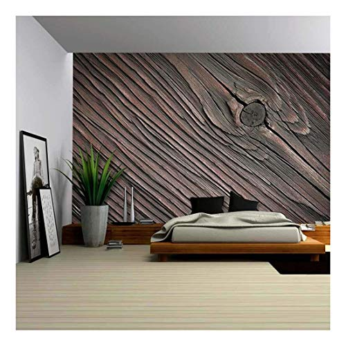 Wood Texture Wallpaper Removable Wall Decor in