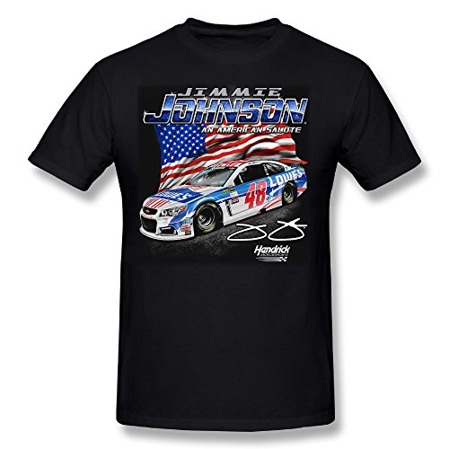 Johnson Motors T-shirt - Hendrick Motorsports Team Collection Jimmie Johnson Driver Salute Cool Mens T Shirts