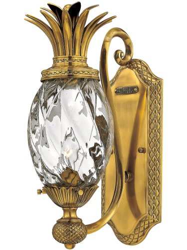 Hinkley 4140BB Leaf, Flower, Fruit One Light Wall Sconce from Plantation collection in Brassfinish,