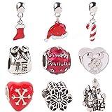 1 lot European Charm Beautiful Christmas Gift Castle Birthday Cake Mickey Beads Series DIY Suitable for Pandora Bracelet Jewelry