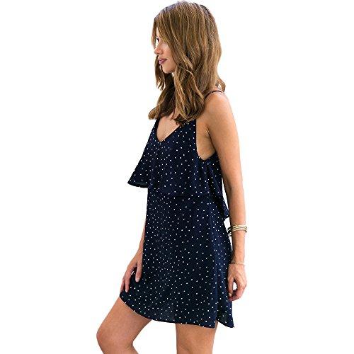 OVERDOSE Damen Frauen Reizvolles Kleid Backless Chiffon Sleeveless ...