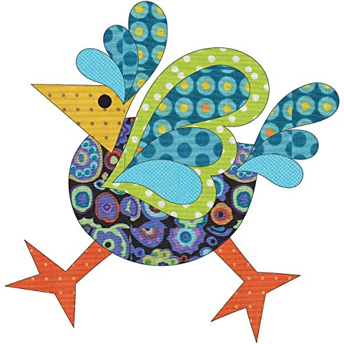(Quilting Creations Laser Cut Fusible Funky Chicken 3 Large Dotz Applique)