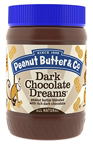 Peanut Butter & Co. Non-GMO, Gluten Free, Vegan Peanut Butter, Dark Chocolate Dreams, 16 Ounce Jars (Pack of 6) Butter 10 Oz Jar