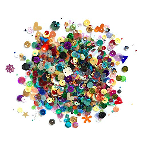 Loose Bulk Cupped Sequins for DIY Arts Crafts Projects Party Mix Assorted Sizes 100 Grams 8000 Pieces