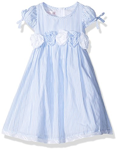 Biscotti Toddler Girl's Summer Stripes Puff Sleeve Dress