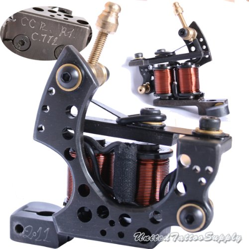 S-CLASS Black Steel Wire Cutting Tattoo Machines For Left Hand Works (TM-S061)