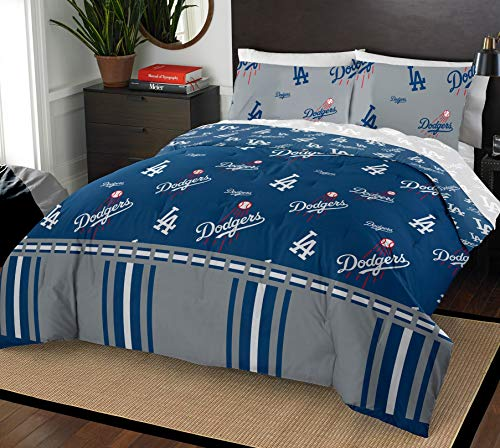 Mlb Pillowcase - The Northwest Company MLB Los Angeles Dodgers Queen Bed in a Bag Complete Bedding Set #802195105