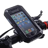 iphone 6 Plus Waterproof Case with Bicycle Mount,U-Tempo(TM)High Touch Sensitivity Dust Proof Shock Proof Case with Strap and Armband Suit for GPS Guide Set Free your Hand (black)