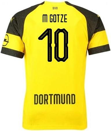 2018-2019 Borussia Dortmund Puma Home Football Soccer T-Shirt ...