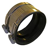 """LASCO 13-1678 Stainless Steel No Hub Coupling fits 4"""" Id Steel, Plastic or Cast Iron Pipe"""