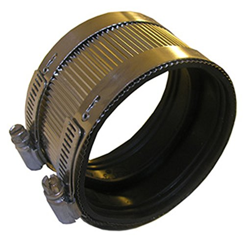"""LASCO 13-1676 Stainless Steel No Hub Coupling fits 3"""" Id Steel, Plastic or Cast Iron Pipe"""