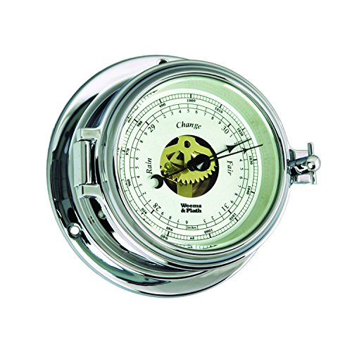 (Weems and Plath Endurance II 105 Open Dial Barometer, Chrome)