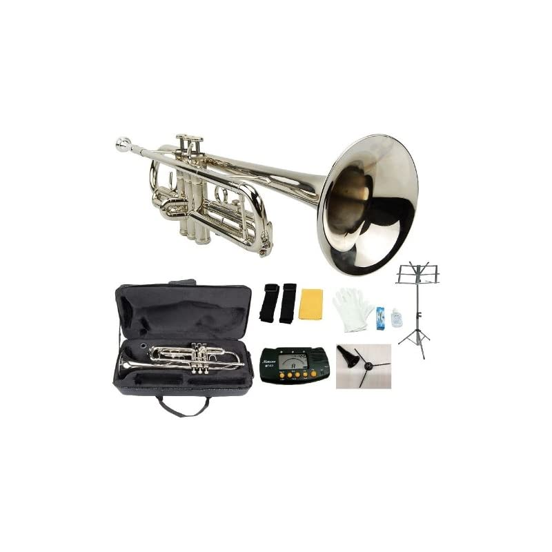 Merano B Flat Silver Trumpet with Case+M
