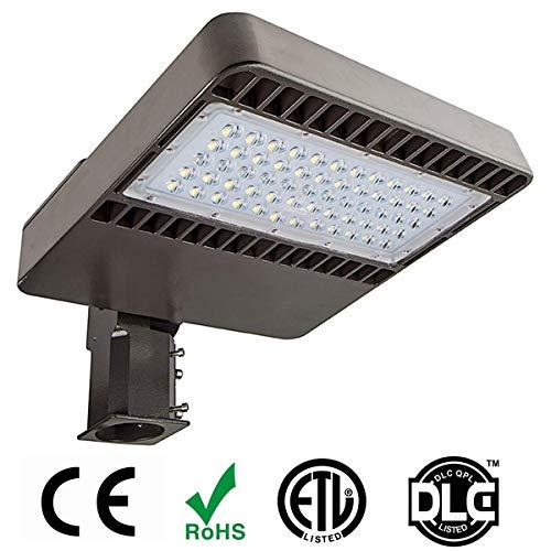 - Led Parking Lot Lights by Phenas, 48W LED Shoebox Pole Light, Street Area Light, Daylight White 5000K, ETL DLC Listed, Waterproof IP65 with Arm Pole Mount