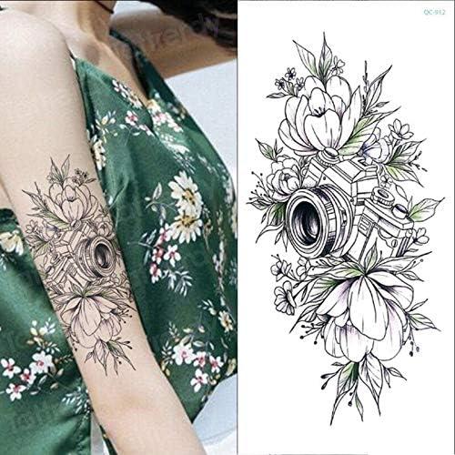 Tzxdbh Esquisse Fleur Autocollants Femmes Tatouage