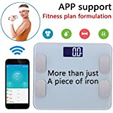 Amerzam wireless bluetooth body weight digital & electronic Scale/Fat Test/LCD Display/iPhone & Samsung/IOS & Android